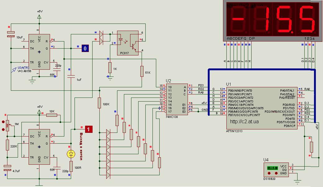 Схема термостата инкубатора на микроконтроллере5