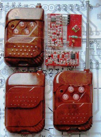 Программа адаптирована для параллельного использования дистанционного управления с применением дешевых радио модулей...